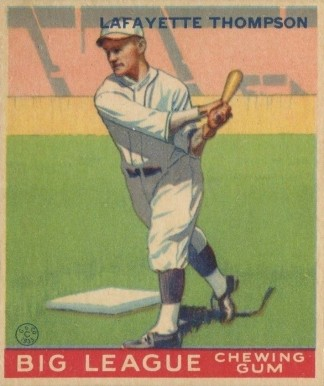 1933 Goudey World Wide Gum Lafayette Thompson #13 Baseball Card