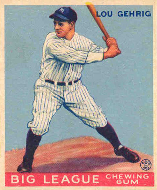 1933 Goudey World Wide Gum Lou Gehrig #55 Baseball Card