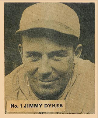 1936 Goudey World Wide Gum Jimmy Dykes #1 Baseball Card