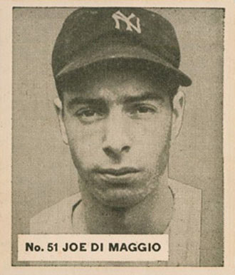 1936 Goudey World Wide Gum Joe DiMaggio #51 Baseball Card