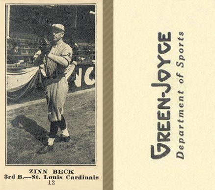 1916 Green-Joyce Zinn Beck #12 Baseball Card
