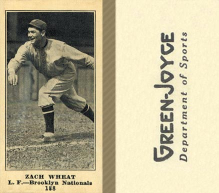 1916 Green-Joyce Zach Wheat #188 Baseball Card