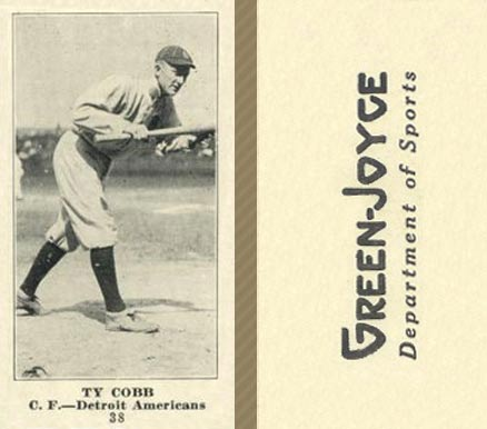 1916 Green-Joyce Ty Cobb #38 Baseball Card
