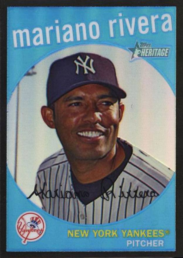 2008 Topps Heritage Chrome Black Refractor Mariano Rivera #156 Baseball Card