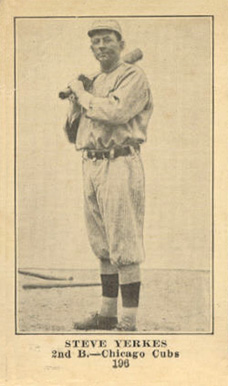 1917 Boston Store Steve Yerkes #196 Baseball Card