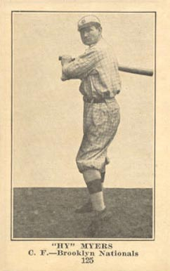 "1917 Boston Store ""Hy"" Myers #125 Baseball Card"