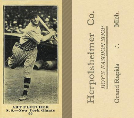 1916 Herpolsheimer's (M101-4) Art Fletcher #60 Baseball Card