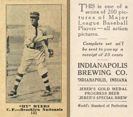 1916 Indianapolis Brewing Hy Myers #131 Baseball Card