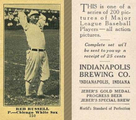 1916 Indianapolis Brewing Reb Russell #150 Baseball Card