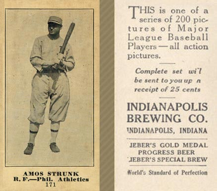 1916 Indianapolis Brewing Amos Strunk #171 Baseball Card