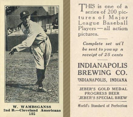 1916 Indianapolis Brewing W. Wambsganss #185 Baseball Card