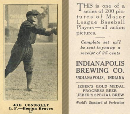 1916 Indianapolis Brewing Joe Connolly #37 Baseball Card