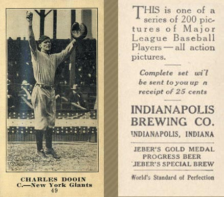 1916 Indianapolis Brewing Charles Dooin #49 Baseball Card