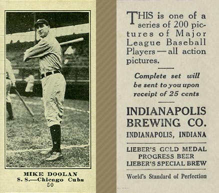 1916 Indianapolis Brewing Mike Doolan #50 Baseball Card