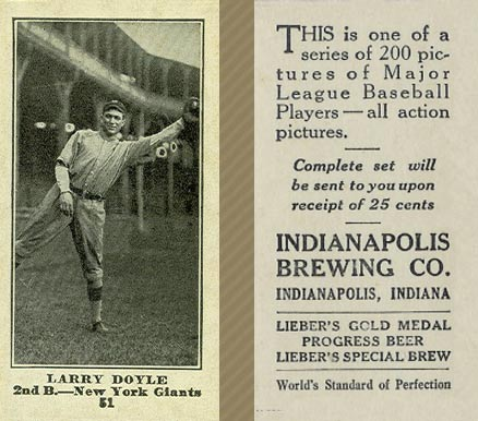1916 Indianapolis Brewing Larry Doyle #51 Baseball Card