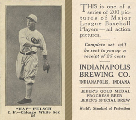 1916 Indianapolis Brewing Hap Felsch #56 Baseball Card