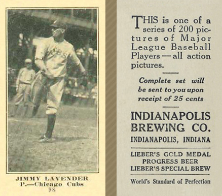 1916 Indianapolis Brewing Jack Lapp #98 Baseball Card