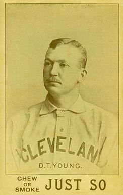1893 Just So Tobacco D.T. Young #13 Baseball Card
