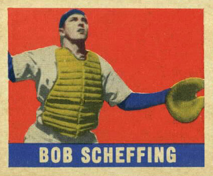 1948 Leaf Bob Scheffing #160 Baseball Card