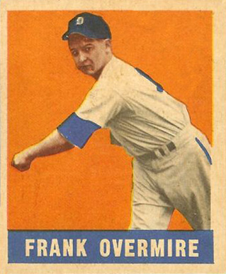 1948 Leaf Frank Overmire #17 Baseball Card