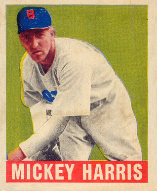 1948 Leaf Mickey Harris #27 Baseball Card