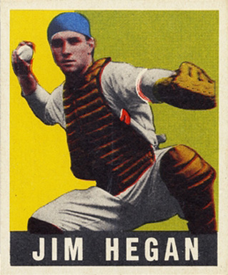 1948 Leaf Jim Hegan #28 Baseball Card