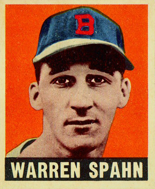 1948 Leaf Warren Spahn #32 Baseball Card