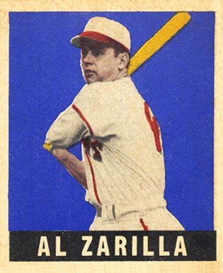 1948 Leaf Al Zarilla #36 Baseball Card