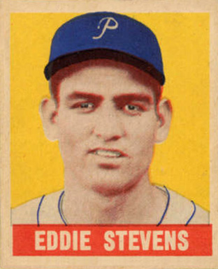 1948 Leaf Eddie Stevens #43 Baseball Card