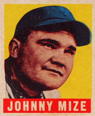 1948 Leaf Johnny Mize #46 Baseball Card