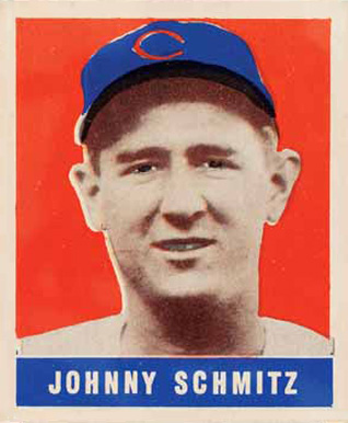 1948 Leaf Johnny Schmitz #48 Baseball Card