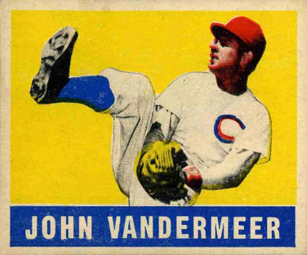 1948 Leaf Johnny Vander Meer #53 Baseball Card