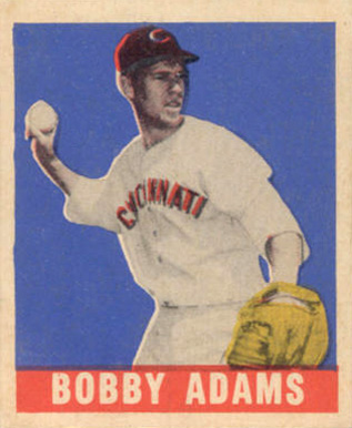 1948 Leaf Bobby Adams #54 Baseball Card