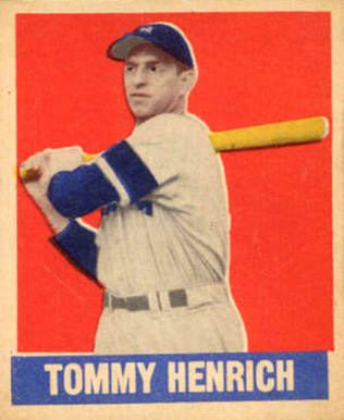 1948 Leaf Tommy Henrich #55 Baseball Card