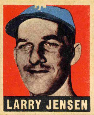 1948 Leaf Larry Jensen #56 Baseball Card