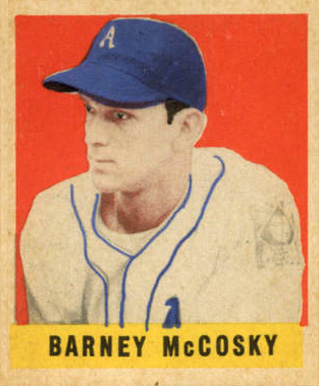 1948 Leaf Barney McCosky #63 Baseball Card