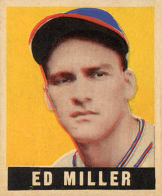 1948 Leaf Eddie Miller #68 Baseball Card