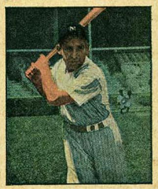 1951 Berk Ross Yogi Berra #2-4 Baseball Card