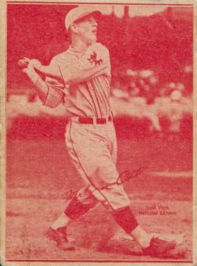 1929 Leader Novelty Candy Melvin Ott 14 Baseball Vcp Price Guide