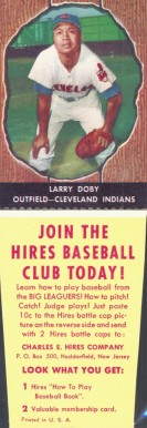 1958 Hires Root Beer (With Tabs) Larry Doby #17 Baseball Card
