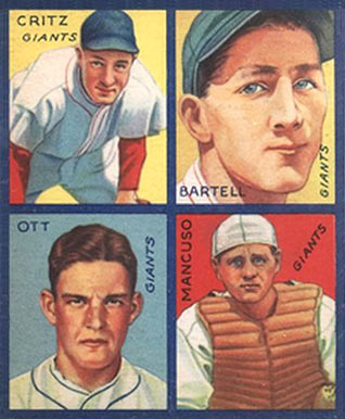 1935 Goudey 4-in-1 Dick Bartell #6 Baseball Card