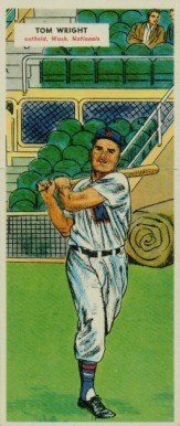 1955 Topps Doubleheaders Tom Wright #75/76 Baseball Card