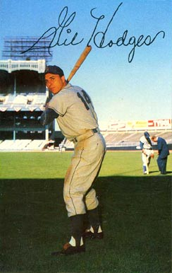1953 Dormand Postcards Gil Hodges #129 Baseball Card