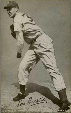 1947 Exhibits Lou Brissie 42 Baseball Card Value Price Guide