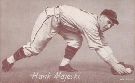 1947 Exhibits Hank Majeski 186 Baseball Card Value Price Guide