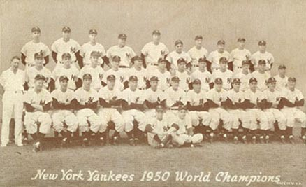 1947 Exhibits New York Yankees Team #337 Baseball Card