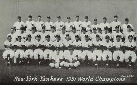 1947 Exhibits New York Yankees Team #338 Baseball Card