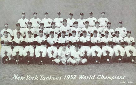 1947 Exhibits New York Yankees Team #339 Baseball Card