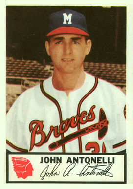 1953 Johnston Cookies Braves John Antonelli #2 Baseball Card