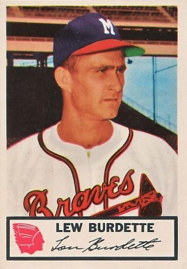1953 Johnston Cookies Braves Lew Burdette #5 Baseball Card